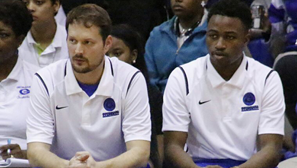 Nineteen-year-old Matt Campbell (right), a 2014 graduate of Georgiana High School, has served as the right-hand man of Georgiana head basketball coach Kirk Norris (left) since he was in seventh grade. (Courtesy Photo)