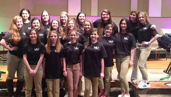 Nineteen students from Fort Dale Academy were selected to participate in the 2016 AISA Honor Choir, which was held at Taylor Road Baptist Church in Montgomery last week.  Those selected to participate were Sydni Bowers, Mary Claire Carlton, Lynn Choi, Mary Madison Crenshaw, Christian Davis, Caitlin Edgar, Meagan Edgar, Xada Ingram, Hannah Jayroe, Molly Killough, Mary Hannah Miller, Kimball Nall, Madeline Newton, Halle Paulk, Katie Perry, Caroline Pope ,Hannah Schofield, Dailyn Swann and Katherine Tillery. (Courtesy Photo)