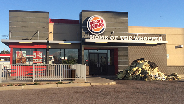 The Greenville Fire Department responded early Tuesday morning to a fire at Burger King.  According to Chief Chad Phillips, the restaurant has significant damage from either fire, heat or smoke. (Advocate Staff/Andy Brown)