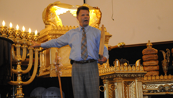 David Hamilton, the proprietor of Mishkan Ministries, combined his passions for ministry and 16 years' worth of architectural knowhow and general contracting in an effort to educate the masses on God's plan by building a reproduction of the Tabernacle. (Advocate Staff/Jonathan Bryant)
