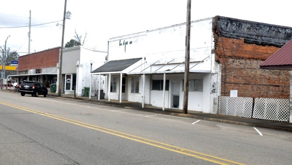 The downtown area of the Town of Brantley now stands almost abandoned.  A few concerned business owners have recently decided that in order to see progress in restoring the shops, action must be taken.  A GoFundMe campaign was recently launched to raise funds for repairs. (Photos by Beth Hyatt)