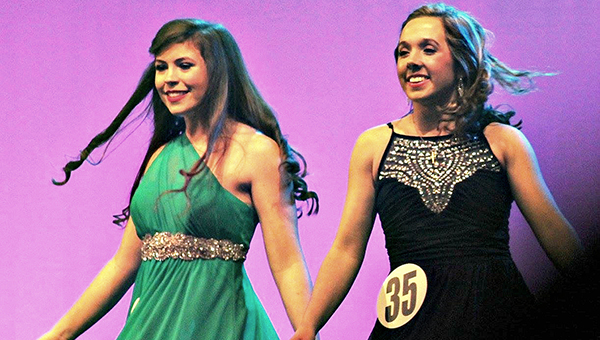 Fort Dale Academy seniors Hannah Miller (left) and Mary Claire Carlton (right) represented Butler and Lowndes Counties, respectively at the state Distinguished Young Women competition.  The pair recently sat down with The Greenville Advocate to reflect on their experience. (Courtesy Photo)