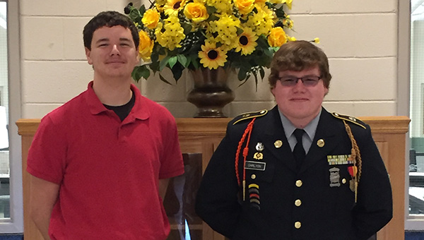 Greenville High School sophomores Laun Pryor, left, and Banes Carlyon were selected to attend the Capstone Leadership Academy at the University of Alabama. (Courtesy Photo)