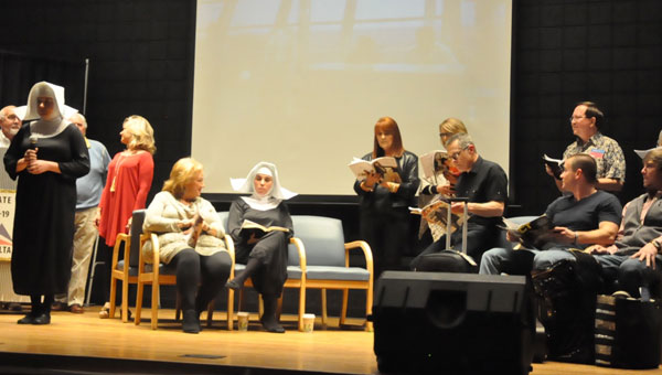 The Luverne Public Library hosted its seventh annual dinner theater production last week, and invited the audience to sit back and enjoy an evening of airport-related humor. (Photo by Beth Hyatt)
