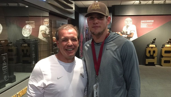On his recent college tour, Jacob Free met with Coach Jimbo Fisher, head football coach at Florida State Univeristy.