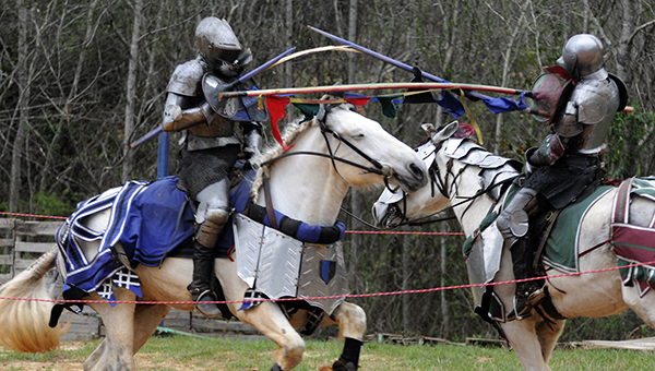 The inaugural Alabama Medieval Fantasy Festival, complete with jousting knights, was held in Butler County on Saturday and Sunday. (Advocate Staff/Jonathan Bryant)