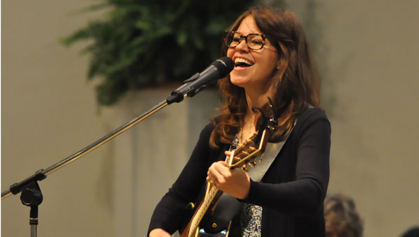 """Kelly Minter served as not only the speaker, but also as a musical guest for the recent """"Clothe Yourself"""" women's conference hosted by the Crenshaw County Women for Christ organization. (Photo by Beth Hyatt)"""
