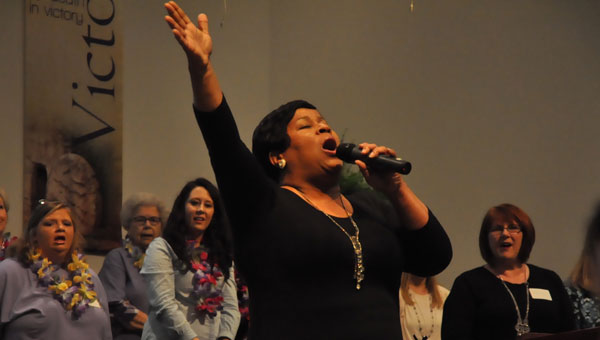 Shelia Jackson and Company served as the guest musician at the conference this weekend. (Photo by Beth Hyatt)
