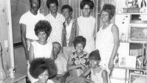 The Cantlow family pictured, first row, Linda, Lottie, John, Dorthy and Dennie; second row, Johnny, Bobby, Donnie, Christiane and Deloies.