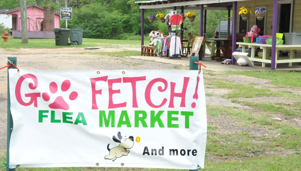 When Go Fetch Flea Market and More first opened in February, the Crenshaw County Animal Society never dreamed that it would become as big of a hit as it did.  With a plethora of different items available, the group hopes to continue raising funds to help their foster pets. (Photo by Beth Hyatt)