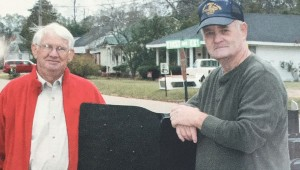 Pictured are Joe Rex Sport and Tommy Odom at the dedication ceremony of the Veterans Memorial Park in 2011.