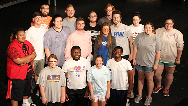 The LBW Community College Ensemble is preparing for an end-of-year public performance. Pictured are, kneeling from left, Isabella Burgans of Brantley; Absalom Adams, Greenville; Morgan Tillman, Highland Home; and Joseph Longmire, Greenville; second row from left, Miguel Banks, Elba; Trevor Reeves, Brantley; Lorren Shaffer, Andalusia; Trenton Mancill, Red Level; Christian Cook, Bryce Stewart, and Samantha Rolling, all of Andalusia; Madison Tillman, Highland Home; Tim Ellison, Opp; Cody Stewart and Zechariah Knowles, both of Andalusia; Noah Carnley, Kinston; Ivy Beam and Alexandria Brown (not pictured), both of Andalusia. (Courtesy photo)