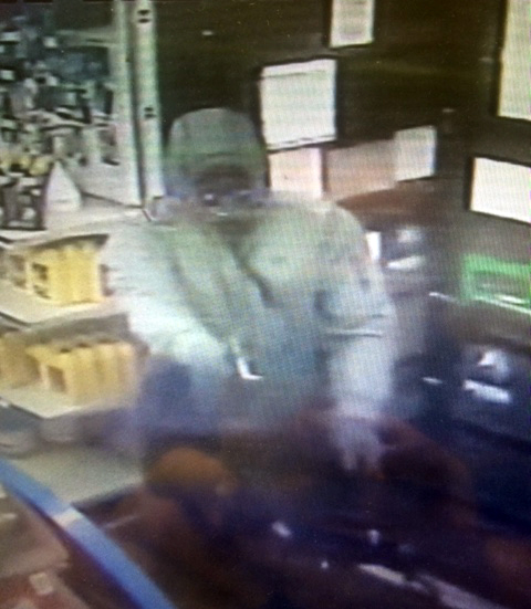 On Monday night, a suspect entered the Marathon gas station on Pine Apple Highway and robbed the store at gunpoint. (Courtesy of Greenville Police Department)
