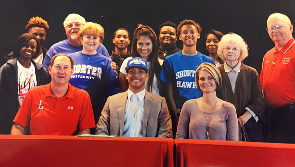 Austin Bryant is the son of Carey Neal of Luverne and Tracy Bryant of Highland Home. Pictured are, first row from left to right, Scott Rials, Austin Bryant, and Carey Neal. Pictured are, second row from left to right, Nadaja Dubose, Wanda Cooper, Mikayla Bryant, Trey Bryant, Shirley Neal and William Neal.  Pictured are, third row from left to right, Jontae Chambers, Bobby Cooper, JonDale Jones, Kameron Womack and Shirley Womack.