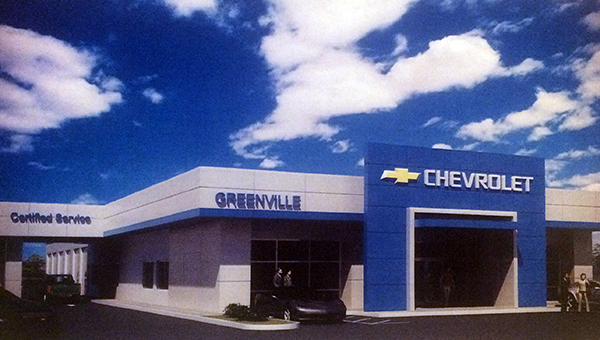 Greenville Motor Company relocated to the Camellia City from Fort Deposit in 2000. In 2005, the dealership underwent an expansion that doubled its showroom, sales and managerial areas. Thanks in part to a deal with the City of Greenville, the dealership will soon undergo a nearly $350,000 remodeling project. Pictured is an artist rendering of what the upgraded dealership will look like. (Courtesy image)