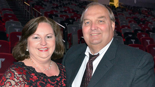 Friends and family of Ken Gibson gathered Monday to say farewell to the longtime businessman who passed away suddenly on April 29. Gibson is pictured with his wife, Pat Gibson. (Courtesy Photo)