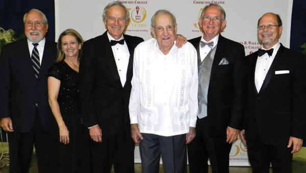 Dr. W. H. McWhorter, center, is shown at last year's celebration of LBW's 50th anniversary. From left are Wayne Bennett, SalLee Sasser-Williams, Seth Hammett, McWhorter, Jim Krudop and Herb Riedel. (File photo)
