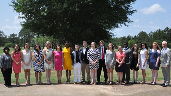 Greenville's Sellers Swann, along with the 16 other students, was awarded a Community Service Scholarship by SEAGD worth $1,500. Along with Swann, this year's scholarship recipients include: Casey Adkins, New Brockton High School; Peighton Carpenter, Brantley High School; Taran Carrasco, Andalusia High School; Tiffani Dean, Opp High School; Cassidy Godwin, Pleasant Home School; Cassidy Harrison, Headland High School; Chelsey Holland, Pike County High School; Lindsay Lee, Charles Henderson High School; Clark Logan, Elba High School; Macy Mathews, Straughn High School; Paxton Peacock, Enterprise High School; Maggie Shorter, Eufaula High School; Taylor Strength, Carroll High School; Brittany Summers, Abbeville High School; Kalon Washington, Luverne High School; and Jonathan Williamson, Red Level High School. (Submitted photo)