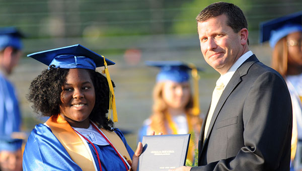 Greenville native and former Georgiana School principal Ward Thigpen (right) has been named LBW Community College's 2016 Outstanding Alumnus. (File photo)