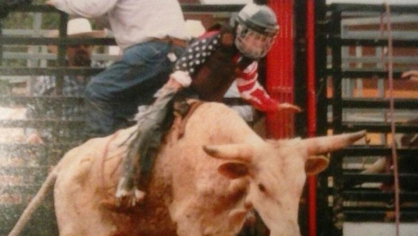 At the age of two, Colton Carpenter had the chance to ride his first bull.  Since that day, he has travelled the state and nation competing.