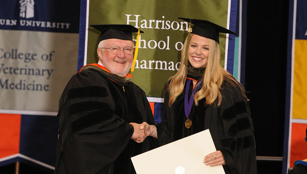 Jordan Griggs Bowers, a 2009 graduate of Crenshaw Christian Academy, recently graduated from Auburn University with a degree in pharmacy.