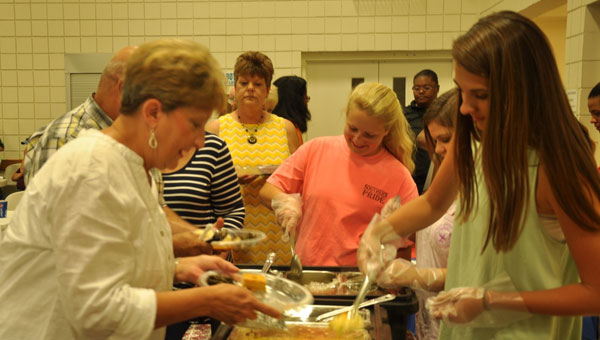 Over 200 were in attendance for the fourth annual Taste of Crenshaw event that took place at the Luverne United Methodist Church Dei Center last week. (Photo by Beth Hyatt)
