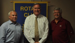 ictured are, from left to right, Donnie Nix, Rotary Club Secretary; Steve Flowers; and Danny Rolling, Rotary Club President. (Photo by Beth Hyatt)