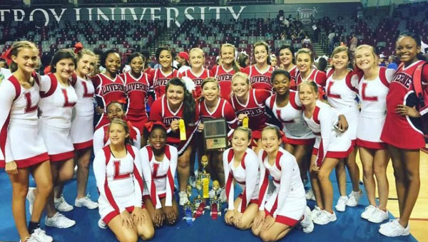 The Luverne High School varsity and junior varsity cheerleaders recently travelled to Troy University to participate and compete in the Universal Cheerleaders Association (UCA) camp.