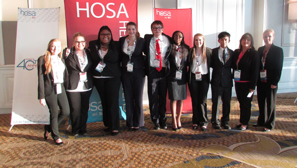 The Crenshaw County Schools' Health Occupations Students of America (HOSA) members attended this summer's leadership conference. Students as well as Crenshaw County faculty members were given awards for their accomplishments.