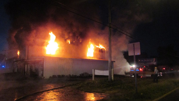 The first call to the Luverne Fire Department went out Monday morning at 4:15 a.m., according to LFD Assistant Chief William Neal. (Submitted by William Neal)