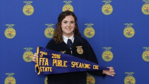 Cameron Catrett won first place at the district contest and third place in the State Public Speaking Career Development Event in June.