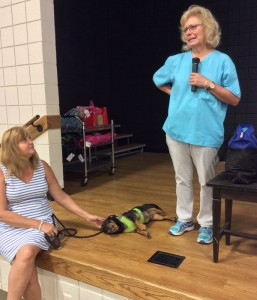 Local  veterinarian Alethea Gammage explains proper pet care and safety in emergency situations.