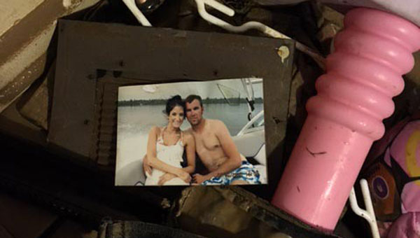 When the Martins returned to their home, very few of their belongings were salvagable.