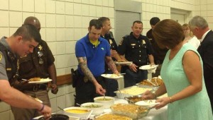 Members of the Luverne United Methodist Church also honored law enforcement last Sunday and served a covered dish lunch for all in attendance.