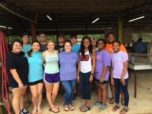 Members of the LHS Future Business Leaders of America (FBLA) group came out to help with this year's peanut boil.