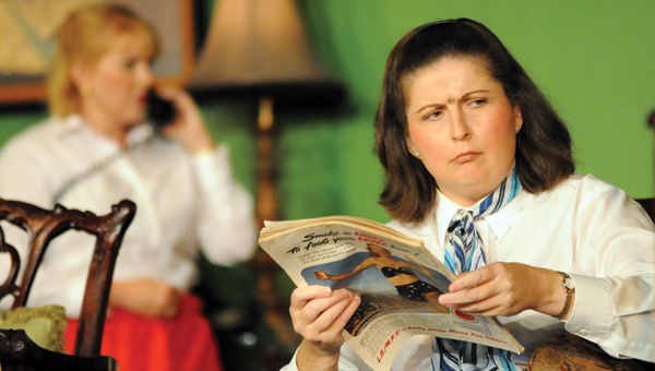 """Mollie Waters, right, is pictured performing in a previous Greenville Community Theater production, """"The Mousetrap."""" Waters, the outgoing president of the CGT, said that there is much to look forward to in 2017."""
