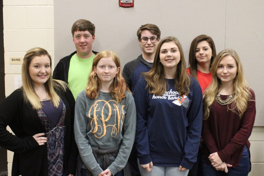 During the month of February, multiple colleges around the state have offered honor band opportunities to high school band members. Students from Brantley High School's Emerald Wave Marching Band recently participated in bands a Troy University, the University of Alabama and Auburn University.
